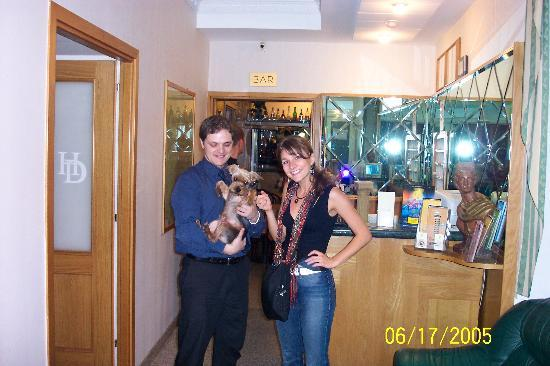 Hotel Dorica: Jonny, Gianni's dog, and me