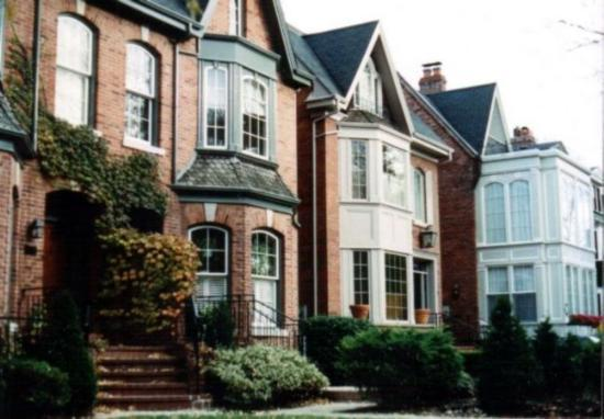 Toronto, Canada: Rosdale victorian houses