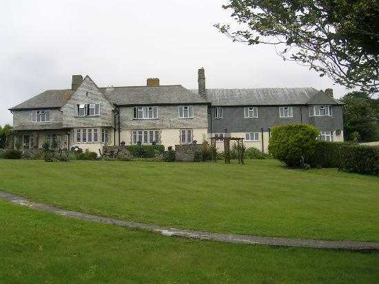 Trevalsa Court Country House Hotel: Hotel rear from the garden