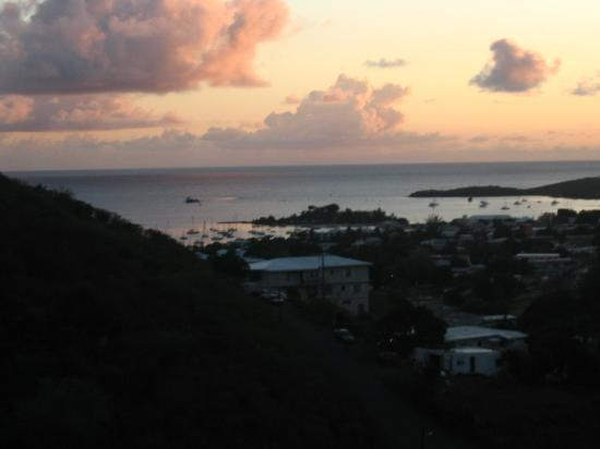 Carringtons Inn St. Croix: Sunrise over Christiansted Harbor, view from Periwinkle Room