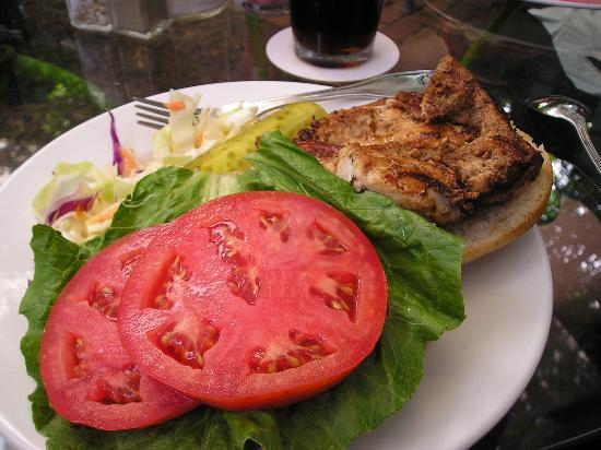 Blue Heaven: Jerk CHicken Sandwich