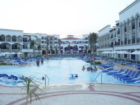 The Royal Playa del Carmen: Courtyard View from Beach