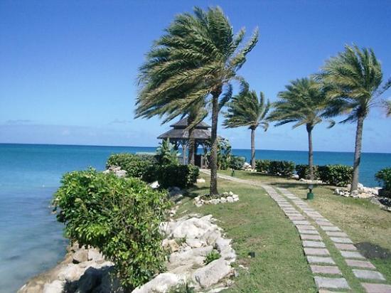 Blue Waters Antigua : Path leading to Wedding Gazebo