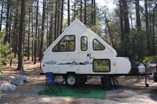 Idyllwild, Californië: Picture of my trailer at the campground in Mt. San Jacinto