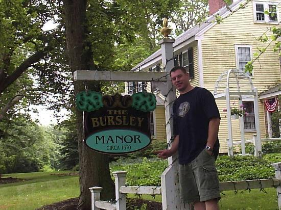 Bursley Manor: Stu in front of the Manor