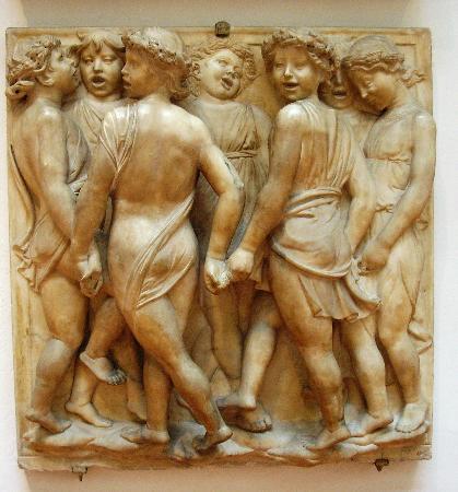Museo dell'Opera del Duomo : A panel from della Robbia's choir loft