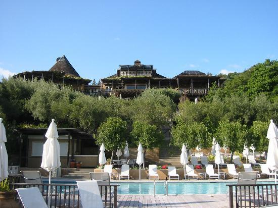 The main house at Auberge du Soleil