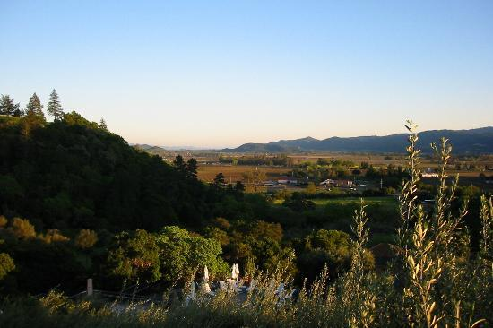 Auberge du Soleil: The view from the main house at sunset