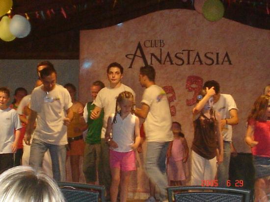 Club Anastasia: Anastasia staff on stage