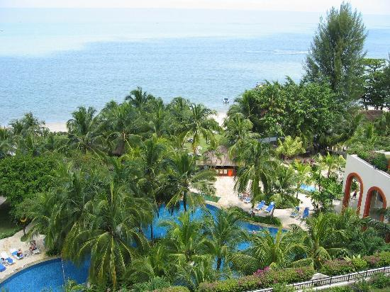View of Hotel Grounds (from room)