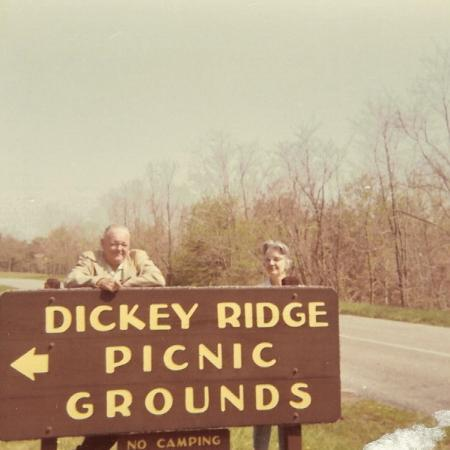 Dickey Ridge Trail: My Grandparents Lyle and Mary Dickey in 1960's