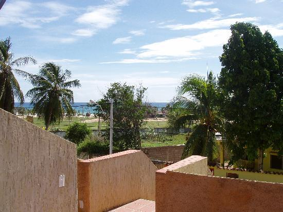 Villa Cabo Blanco: The view from the front deck. Way to hot to sit out here.