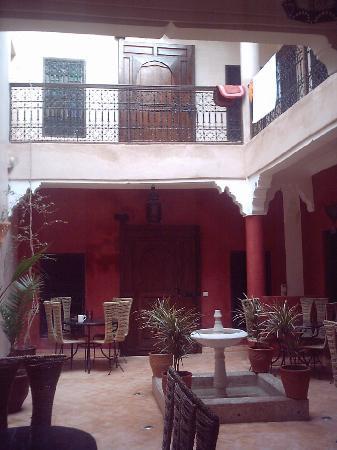Riad Eclectica: The courtyard