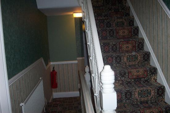 All Seasons Lodge Hotel: stairs to the bedrooms - there is also a lift for disabled use