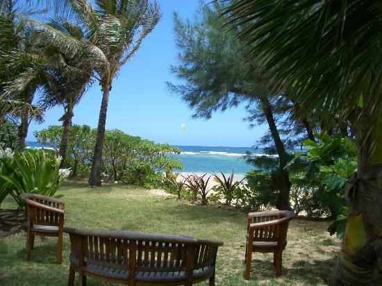 Hale Makai Cottages: An Amazing sitting area to have breakfast, lunch or dinner!