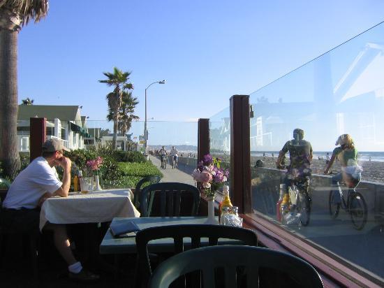 Green Flash: Boardwalk View From Restaurant Patio