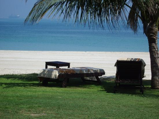 JA Jebel Ali Beach Hotel: Empty beach - white sand, warm clear sea