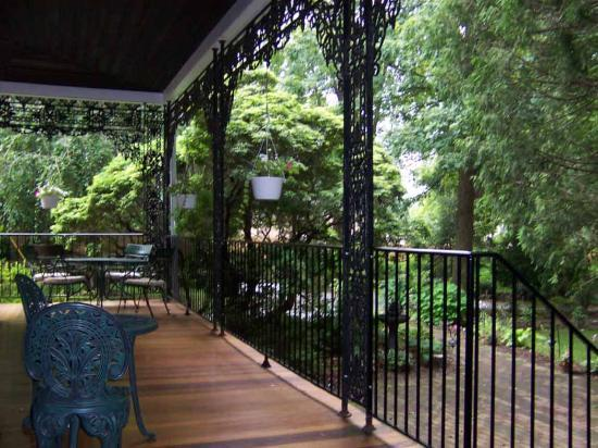 "Faunbrook Bed & Breakfast: We had coffee on this porch each morning - ""walk out windows"" (not pictured) are interesting"