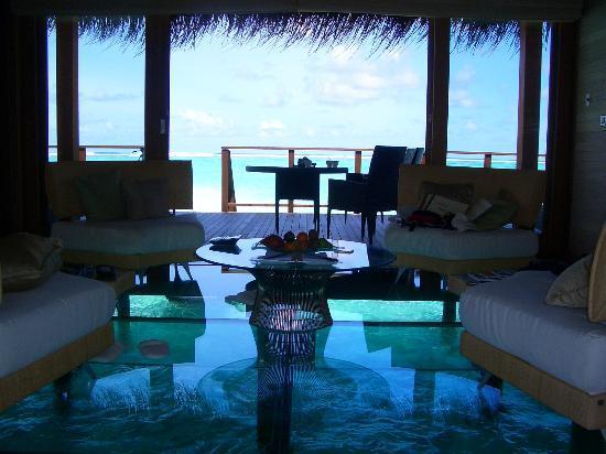 Glass Bottom Living Room Picture Of Conrad Maldives