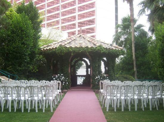 Flamingo Las Vegas Hotel Wedding Gazeebo
