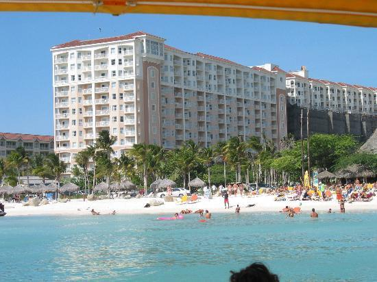 Marriott's Aruba Surf Club: Surf Club taken from a boat