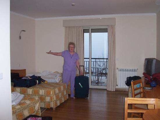 Eira do Serrado Hotel & SPA: Arrival at the room -- view is socked in by clouds