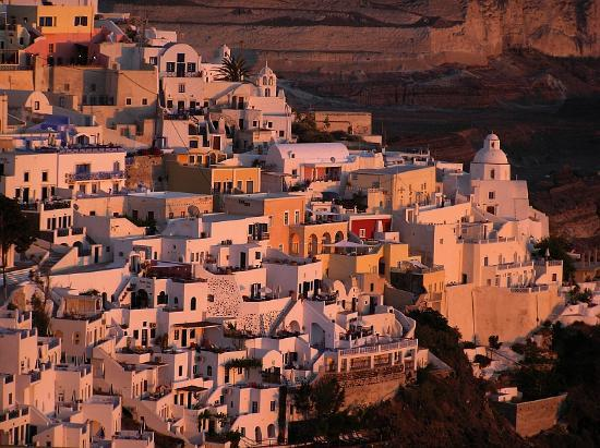 Santorini, Greece: Sunset - Fira
