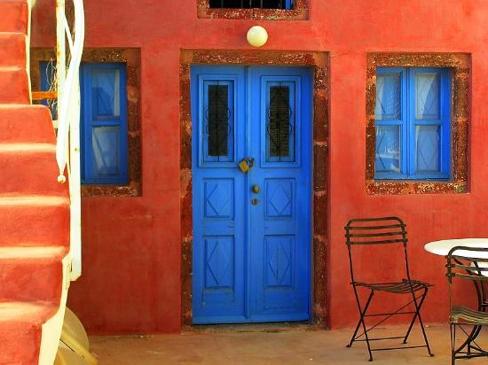 Santorini, Greece: House - Detail