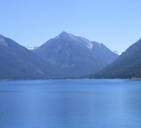 Wallowa Lake, located six miles from Joseph, Oregon