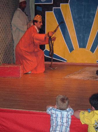 Tagadirt Hotel: Entertainment (Snake charmer)