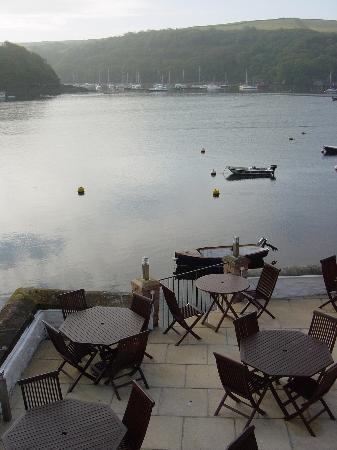 Fowey, UK: Terrace with morning mist