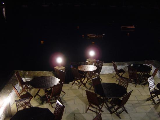 Fowey, UK: Terrace at night