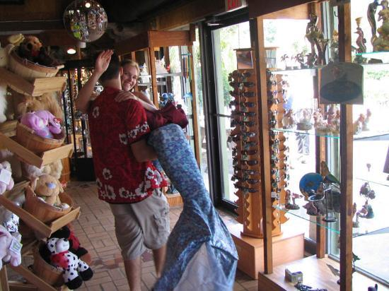 Weeki Wachee Mermaid in the Gift Shop
