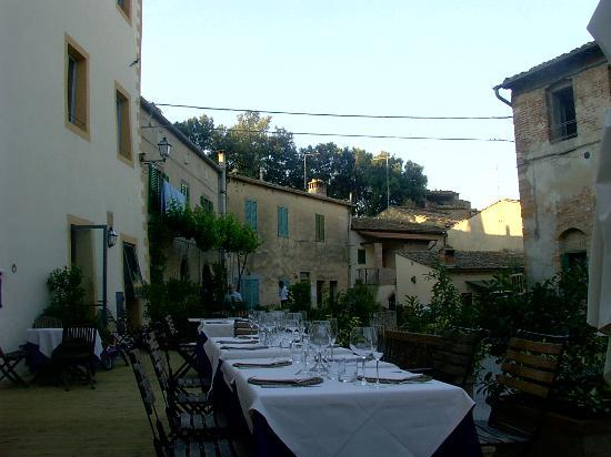 La Locanda del Castello: The hotel terrace.
