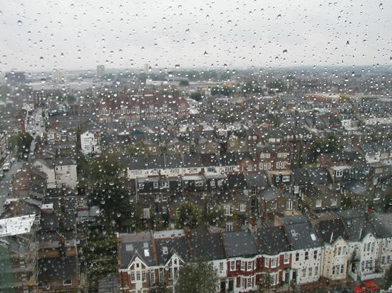 Ibis London Earls Court: View with inevitable London rain