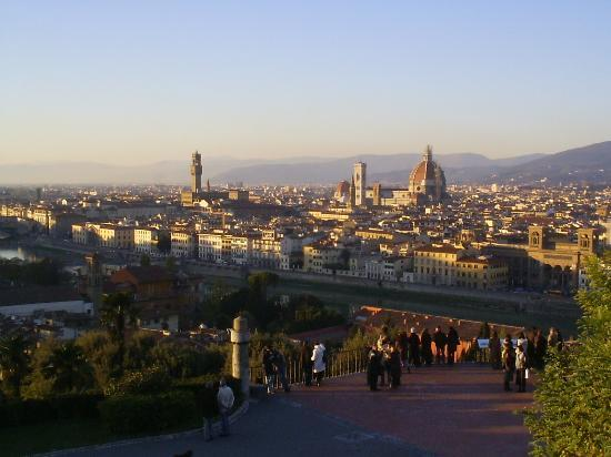 Accademia Gallery: Sunset from San Miniato al Monte