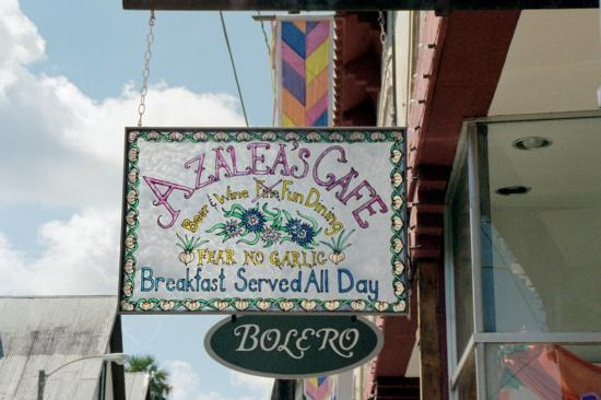 La Herencia Cafe: Look for this sign on Aviles Street.  Don't miss the great food and fun decor!