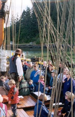 The Lady Washington: Pirate Bob prepares guests for an evening Pirate Battle