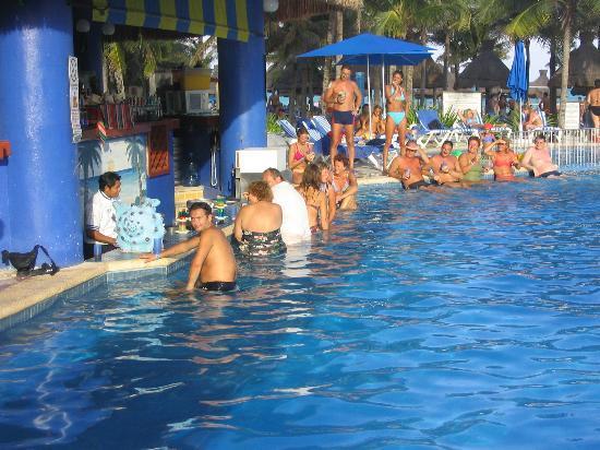 The swim-up bar - Picture of Viva Wyndham Maya, Playa del Carmen ...