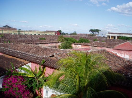 Hotel Colonial : Lake in the background beyond very old tile roofs.