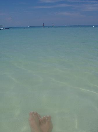 Sandals South Coast: clear water
