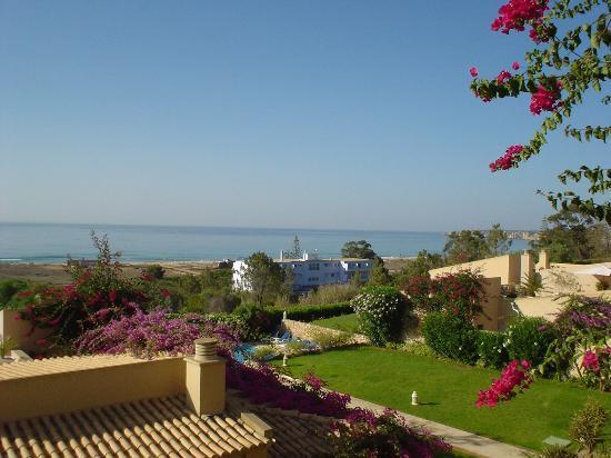 Buganvilia Apartments: Balcony view of Meia Praia beach
