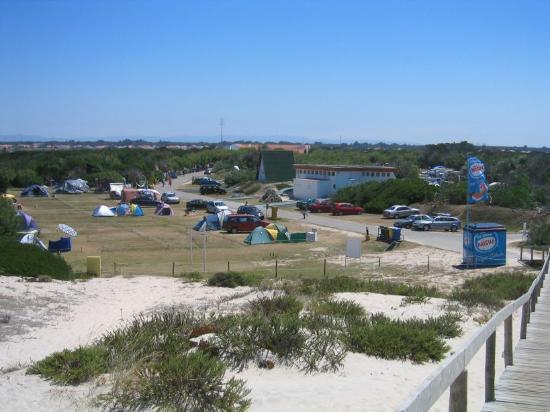 Parque de Campismo da Costa Nova: Camping viewing from the beach