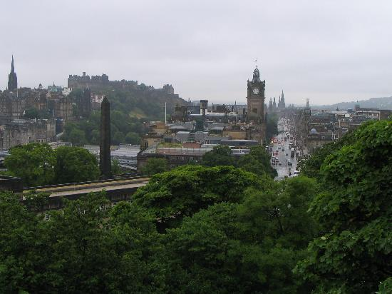 No. 11 Brunswick Street: The view from Calton Hill, a short walk from the hotel.