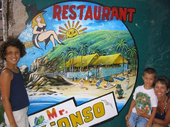 Costa Bonita Condominium & Beach Resort : Amy and the Kids at Mr. Lionso's