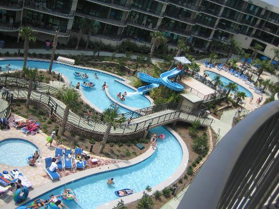 Phoenix on the Bay: View of pools/slide/lazy river from balcony