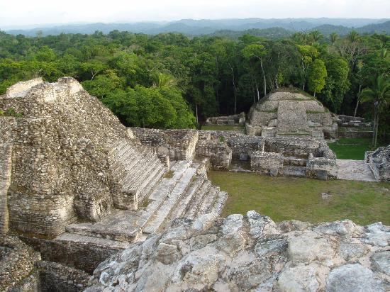 Hidden Valley Inn: Looking south from the top of the main pyramid at Caracol