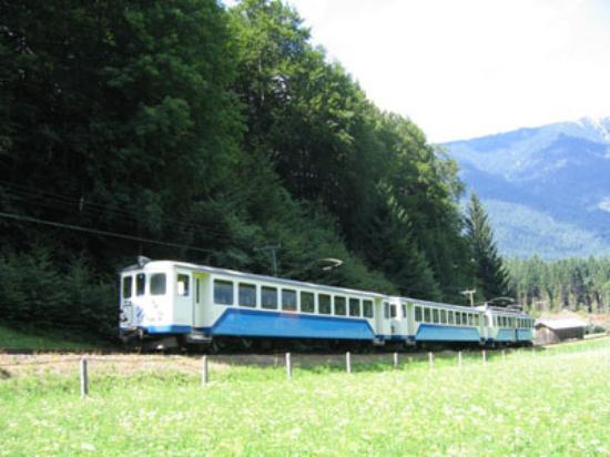 Hotel Wittelsbach: the zugspitze railway train