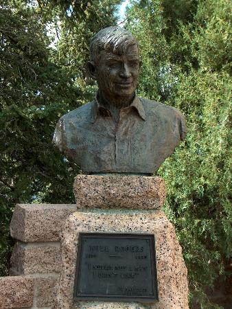 Colorado Springs, CO: bust of Will Rogers