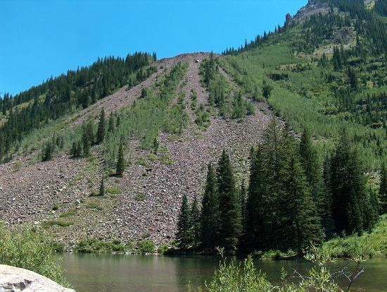An Avalanche Alluvial Fan Picture Of Maroon Bells Snowmass